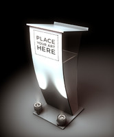 Lectern podium built in c4d