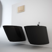 Nic Design Monolite bidet + toilet