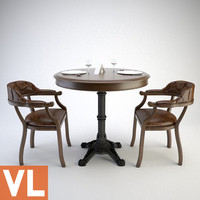 3ds max chair dining group
