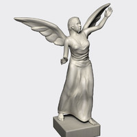 marble statue angel 3d 3ds
