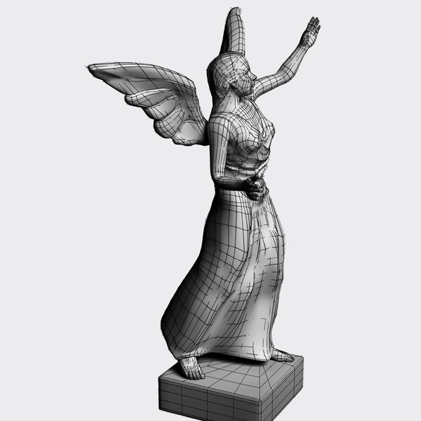 marble statue angel 3d 3ds - Statue of Angel... by DougWalters