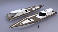 3d motor boat model