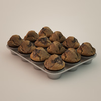 muffins backing form 3d model