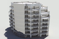 3d model residential complex element