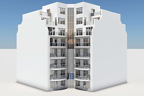 3d model residential complex element - Residential Complex Element 04... by Pumper