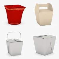 asian foodboxes 3d model