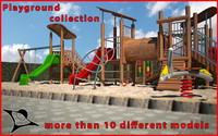 3d model children playground