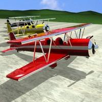 biplane fleet 3d model