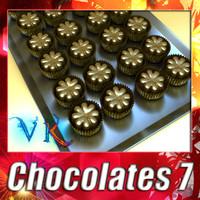 chocolates chocolat 3d model