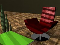 3d model fly couch