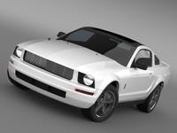 3d model mustang wip 2009 cars
