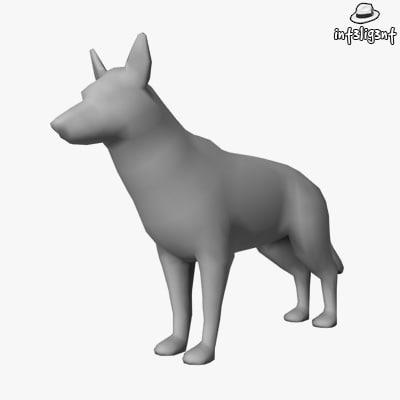 Low Poly German Shepherd