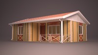 3ds max homes facade roof