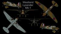 3ds max rare westland lysander mk-1