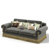 Provasi hektor pr2931-617 classic traditional sofa upholstery with luxury pillow set