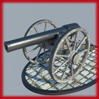civil war cannon 3d max