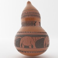 calabash african art 3d obj