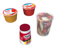 Fruit cups and yogurt