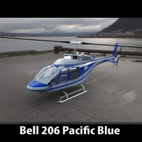 3d bell 206 helicopter