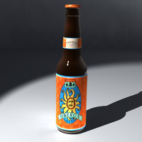 beer bottle 3d lwo