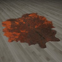 3d model of fur rug animal skin