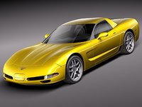 3ds max chevrolet corvette c5 vette
