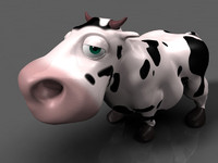 3d cartoon cow