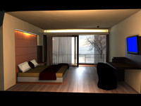 day night scene room 3d ma