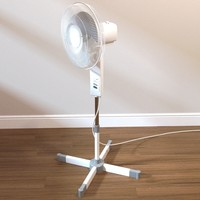 3d freestanding fan