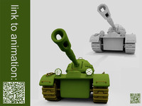 3ds max cartoon tank