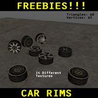 free 3ds model car rim