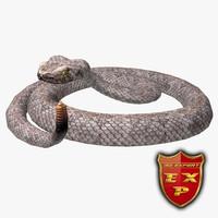 obj rattlesnake rattle snake