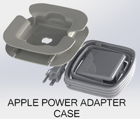 3d model apple power adapter macbook pro