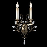 Fine Art Lamps 754250 Crystal Laurel wall sconce lighting