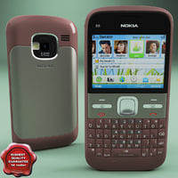 3d nokia e5 00 brown model