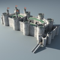 3ds max medieval castle conwy