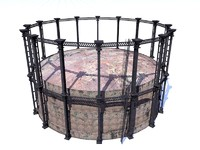 gas works holder 3d model