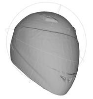 3d racing helmet mesh