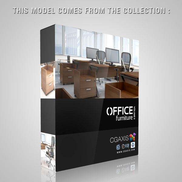 3ds max office desk 31 - CGAxis Minimalistic Office Desk 31... by cgaxis