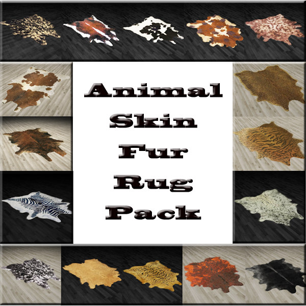 3d Fur Rug Animals Skin