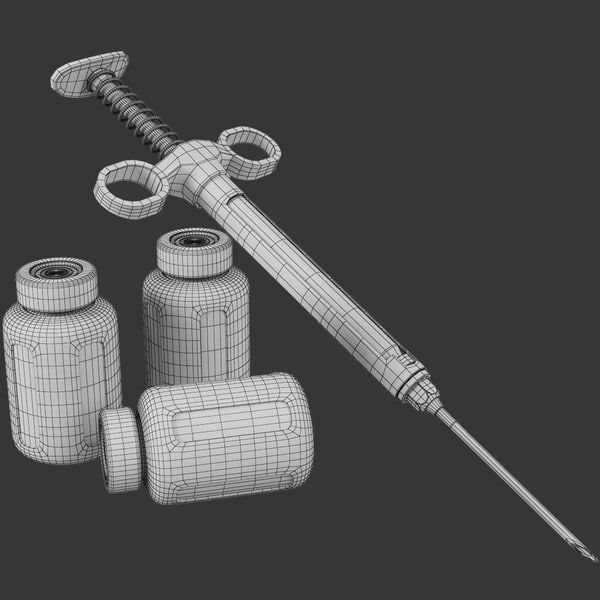 3d model syringe medicine - Detailed Syringe... by modelbay