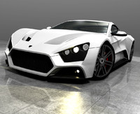 3d model danish zenvo st1