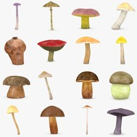 mushrooms food 3d max