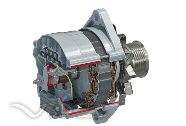 3d car generator alternator for What is found in a generator and motor