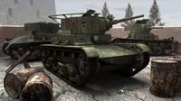 3d soviet t-26 tank