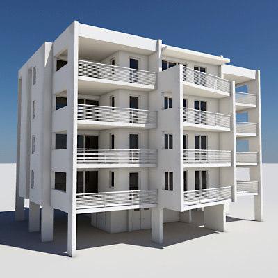 3d apartment building model for 3d apartments