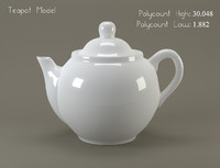 3d porcelain teapot model