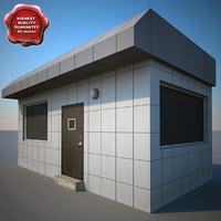3d model guard building