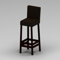 3ds max leather bar chair
