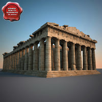 parthenon v2 3d model